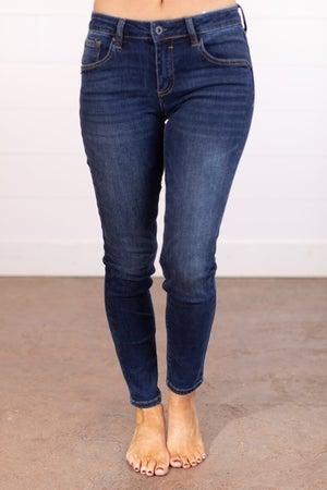 sku17488 | Mid Rise Handsand Skinny Jean