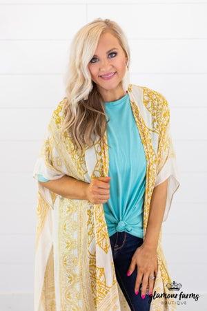 sku14946 | Mandala Tassel Kimono