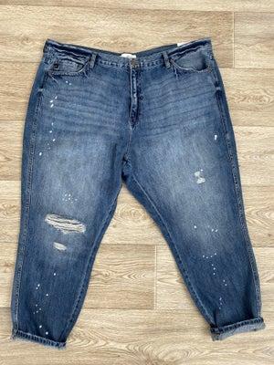sku20615 | KanCan Distressed High Rise Mom Jeans