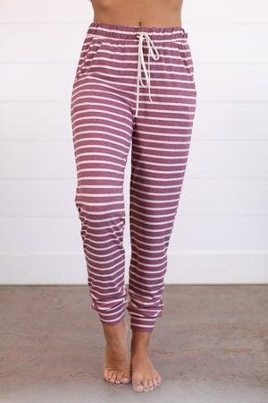 sku15686 | Stripe Jersey Jogger Pant