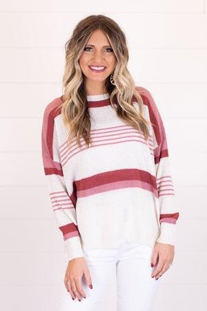 sku18131 | Striped Drop Shoulder Sweater