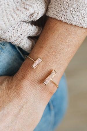 sku20364   Natural Stone Open Cuff Bracelet