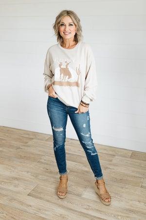 sku21065 | Wild West Rodeo Graphic Sweatshirt
