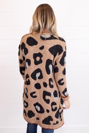 sku17467 | Animal Print Sweater Cardigan