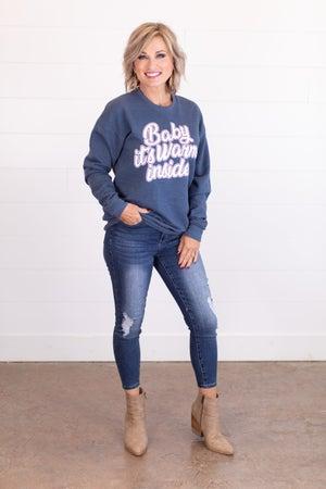 sku17811 | Baby It's Warm Inside Graphic Sweatshirt