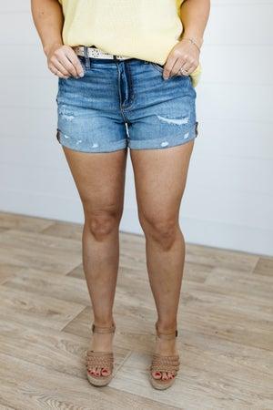 sku20138 | Distressed Tomboy Denim Shorts