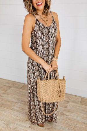 sku18485 | **Daily Deal** Animal Print Cami Maxi Dress