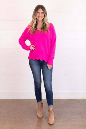 sku16533 | Scalloped Edge Sweater