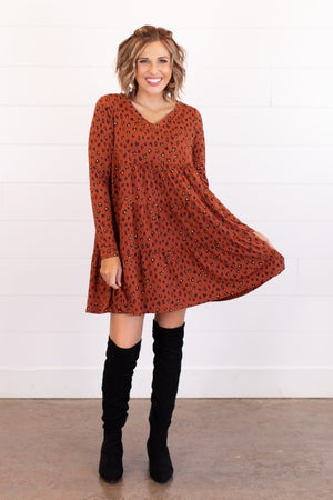 sku16718 | Animal Print Tiered Dress