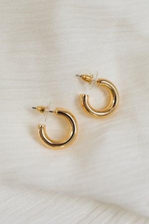sku18587   10mm Open Huggie Hoop Earrings