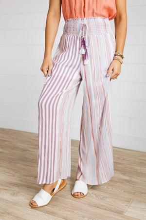 sku18688 | Striped Smocked Waist Pants