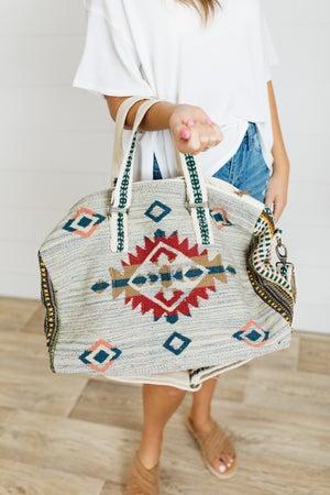sku21794 | Southwestern Woven Weekender Bag