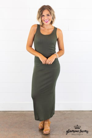 sku15040 **Daily Deal** Ribbed Knit Maxi Dress