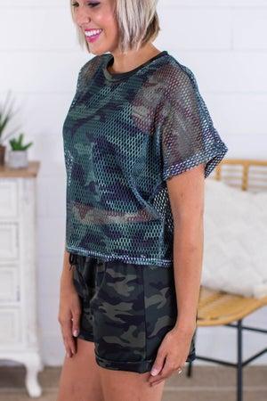 sku13542 | **Daily Deal** Camo Shirt and Short Set