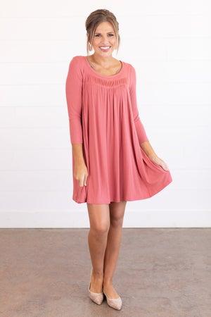 sku14362 | Pleated Back Dress