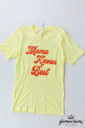 sku12990 | Mama Knows Best Graphic Tee