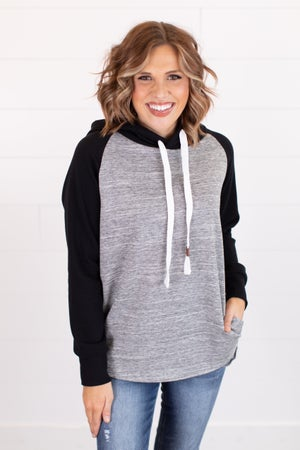 sku17962 | Raglan Sleeve Hooded Pullover