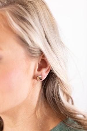 sku18014 | Multi-Tone Wooden Arrow Earrings