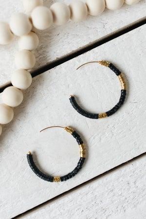 sku19071 | Multi Beaded Hoop Earrings