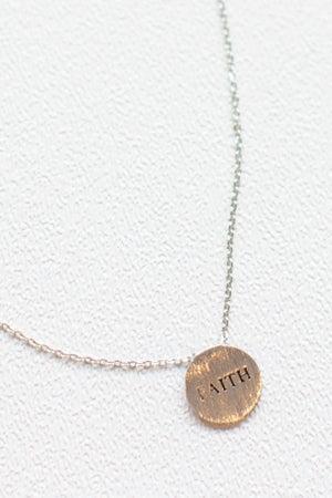 sku17292   Faith Engraved Pendant Necklace