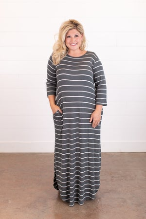 sku16223 | Striped Maxi Dress