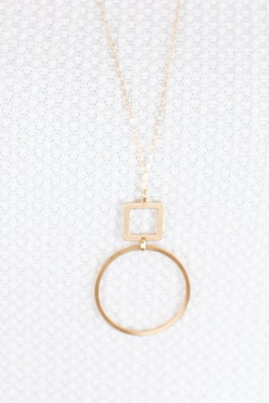 sku17366 | Octagon And Disc Layer Necklace