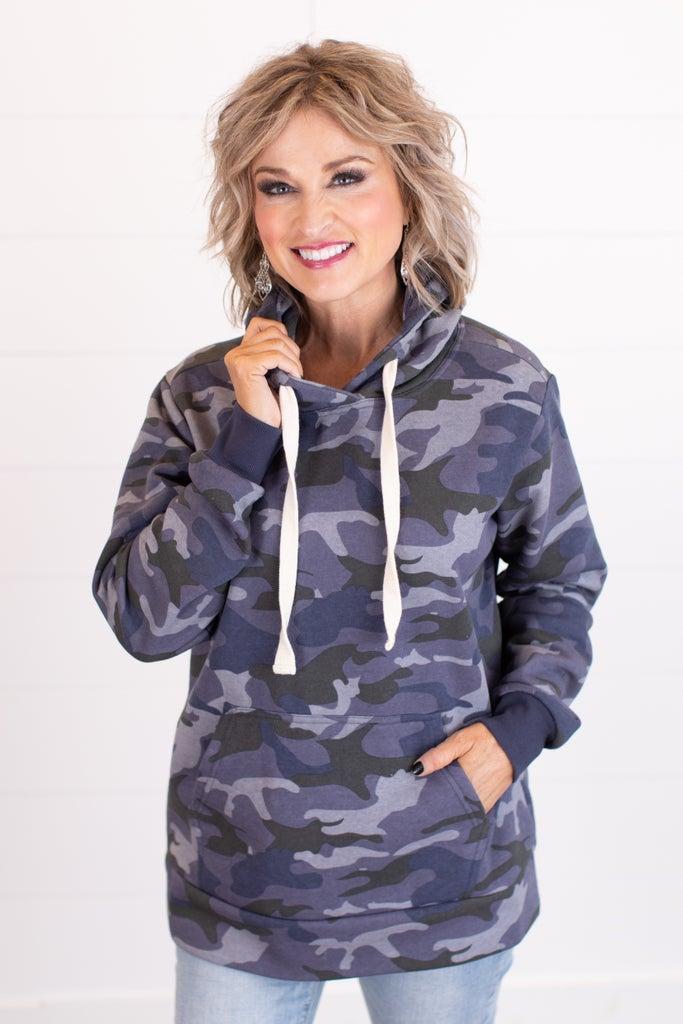 sku17837 | **Daily Deal** Camo Hooded Sweatshirt