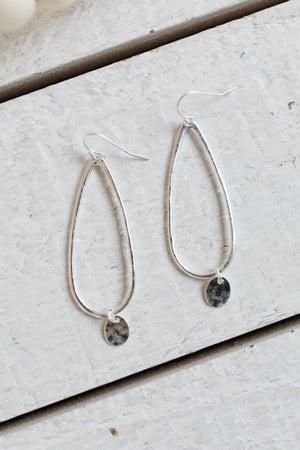 sku18605 | Charmed Teardrop Dangle Earrings