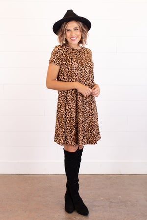 sku16183 | Animal Print Swing Dress