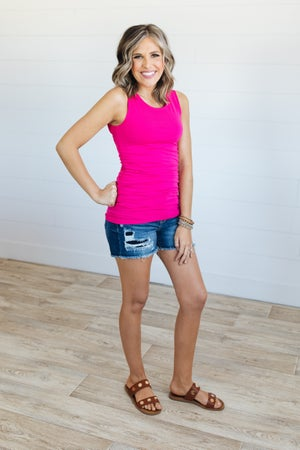 sku20533 | **Daily Deal** Ruched Tank Tunic