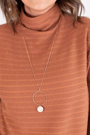 sku17345   Disc and Circle Necklace