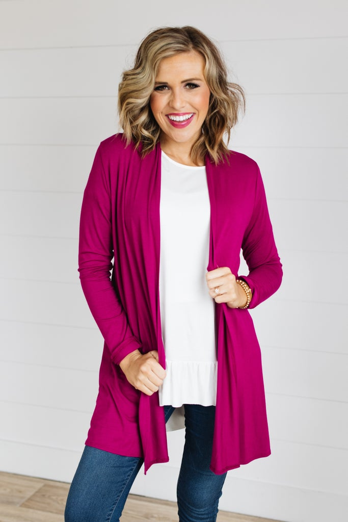 sku19798 | **Daily Deal** Draped Front Cardigan