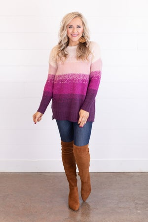 sku17600 | Ombre Knit Sweater