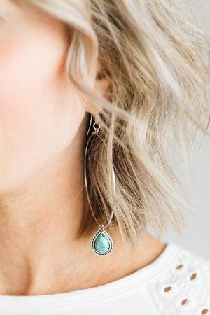 sku21292   Natural Turquoise Dangle Earrings