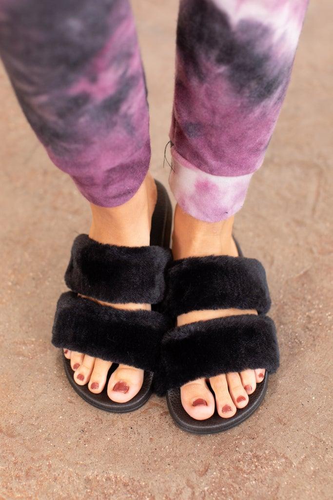 sku16427   Furry Slide Slippers