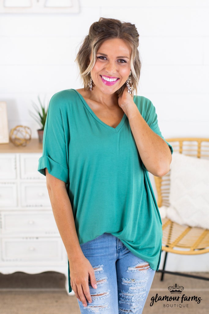 sku14560 | **Daily Deal** V-Neck Tunic Top