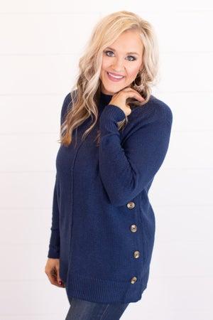 sku17685 | Side Button Sweater