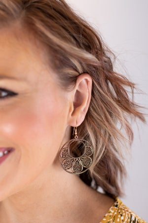 sku16999 | Filigree Circle Earrings