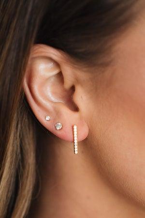 sku18617 | 15mm Crystal Pave Bar Earrings