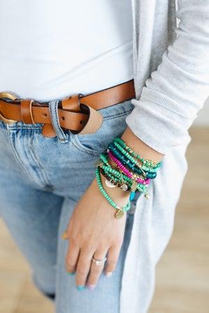 sku20767   Mixed Bead And Charm Bracelet Set