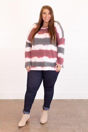 sku16423 | Striped Side Slit Top