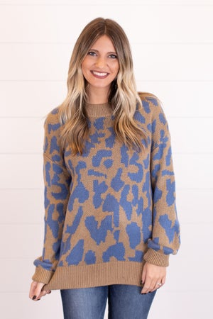 sku17230   Animal Print Sweater