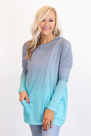 sku14798 | Ombre Pocket Tunic