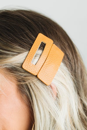 sku20708   Leatherette Hair Clip Set