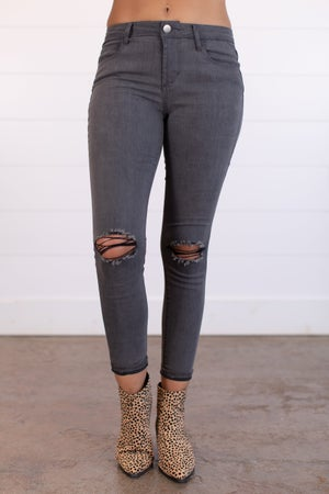 sku15670   Distressed Washed Fitted Jean