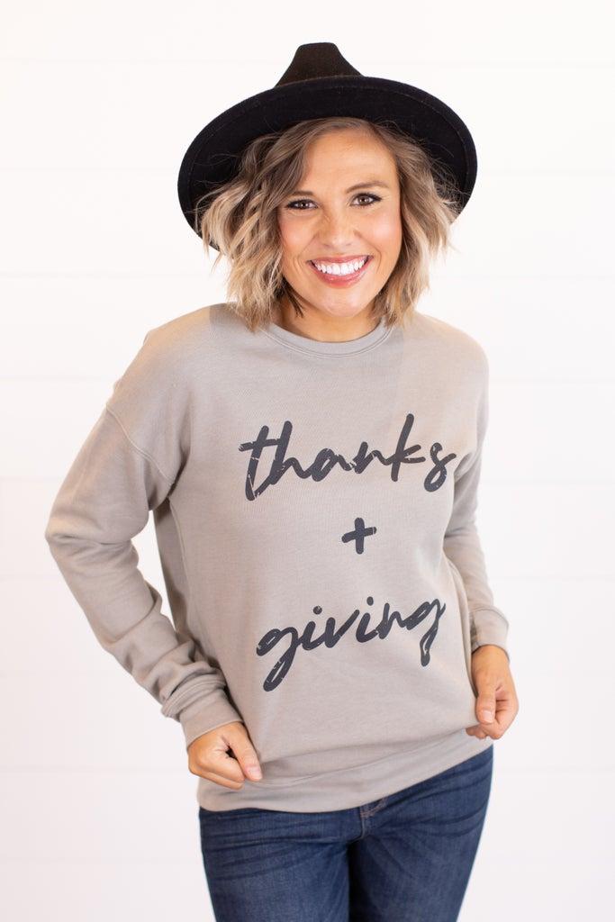sku16387 | Thanks + Giving Graphic Sweatshirt