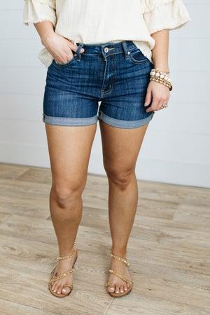 sku21084 | KanCan High Rise Cuffed Denim Shorts