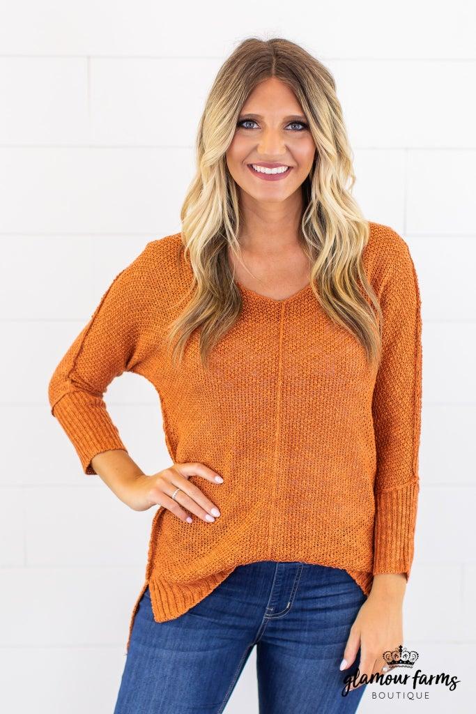 sku14580   Front Seam Sweater