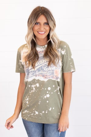 sku16233 | Mama Tried Bleached Graphic Tee