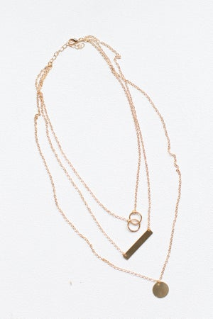 sku17290 | Charm And Bar Layered Necklace